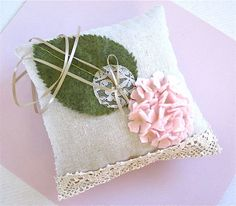Lovely Ring Bearer Pillow Hydrangea Rustic ring by katikamade Ring Bearer Pillows, Ring Pillows, Throw Pillows, Rustic Pillows, Ring Pillow Wedding, Beautiful Wedding Rings, Designer Pillow, Wedding Inspiration, Wedding Ideas