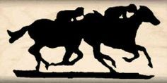 Amazon.com: Horse Race Rubber Stamp - 1 inch x 2 inches: Arts