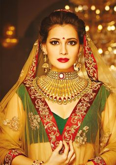 Jewellery by Imperial Jewellery, Kolkata Indian Bridal Outfits, Indian Wedding Jewelry, Indian Weddings, Royal Jewelry, Gold Jewellery, Jewelry Necklaces, Designer Bridal Lehenga, Bridal Necklace, Gold Necklace
