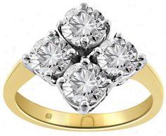 2 Carat Kirsten Platinum Anniversary Band @ The Gold Jewelry dot com Round Diamond Ring, Round Diamonds, Diamond Jewelry, Gold Jewelry, Jewellery, Mom Ring, Anniversary Bands, 2 Carat, Indian Jewelry