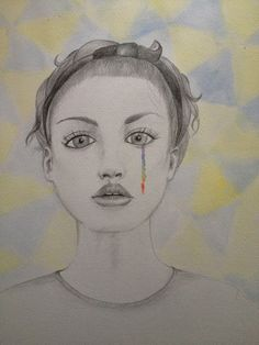 ILLUSTRATION/FASHION - What She Does- Rainbow Tears