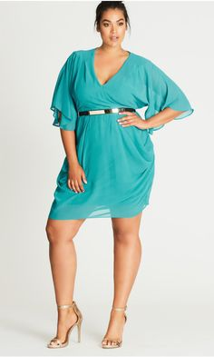 Shop Women's Plus Size dresses, maxi dresses, skater dresses & more at City Chic - The Destination for on Trend Curvy Fashion. Plus Size Party Dresses, Plus Size Outfits, Trendy Outfits, Cute Dresses, Fit Flare Dress, Fit And Flare, Floral Sheath Dress, New Years Eve Outfits, Faux Wrap Dress