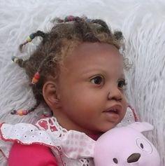 CUSTOM ORDER REBORN TODDLER AA Toddler Baby Reborn Girl Ethnic Biracial Doll | eBay