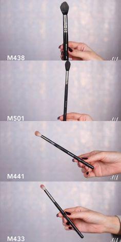 Morphe brushes (top to bottom) Setting Highlight Tapered blending (crease)