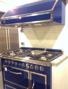 designer blue stove
