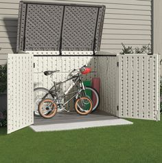 wheelie bin shed bike - Google Search