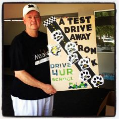 Mr. Perry Moving the Paw Print to 300 Drivers!! #Drive4urschool #BrinsonFord
