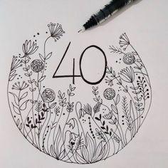 Nozze di rubino in casa oggi. 40 anni di matrimonio di mamma e papà, da cui prendere esempio e a cui dire grazie ogni giorno. #illustration #flowerillustration #handlettering #handwriting #drawing #draw