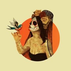 Calavera Princess Art Print