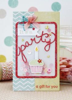 It's A Party Card by Melissa Phillips for Papertrey Ink (January 2015)