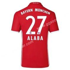 2016/17 Bayern München ALABA Home Red Thailand Soccer Jersey