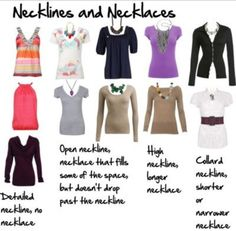 Help with necklaces and necklines www.facebook.com/myattitudemystylenorulesbyAnne