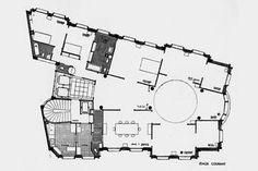 Wohnhalle: Auguste Perret, Wohnhaus Rue Raynouard, Paris, 1930