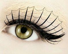 DIY spiderweb halloween eye makeup #cateye #eyeshadow #halloween ...