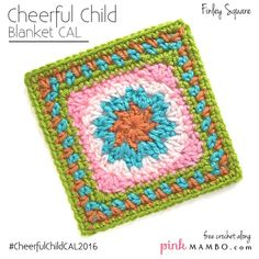 Finley Afghan Square Free Crochet Pattern from Pink Mambo