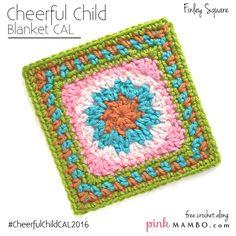 Cheerful Child Crochet Along Finley Square #8