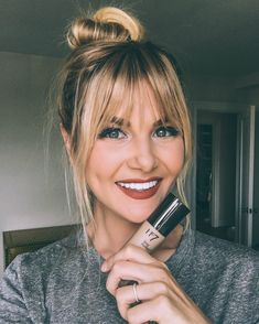 How To Cut Bangs, How To Style Bangs, Long Hair With Bangs, Long Hair Cuts, Style Hair, Thin Hair, Pony Hairstyles, Hairstyles With Bangs, Bangs Hairstyle