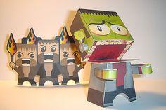 Frankenstein Paper Toy Teaser  by macula1, via Flickr