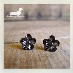 Pewter Petals Flower Post Earrings  Flower by PickleDogDesign, $6.50