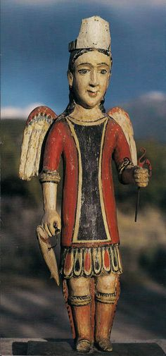 San Rafael, an archangel fisherman, by Jose Aragon.  Late 19th Century, United States