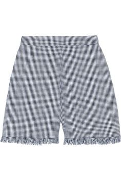 Chloé Gingham Cotton Shorts, $950, available at NET-A-PORTER.  http://www.refinery29.com/how-to-wear-spring-fashion-trends#slide-24  Fringe on the bottom of shorts feels very unexpected.
