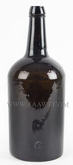 Antique Bottles, Onion, Demijohn, Scent, Flask
