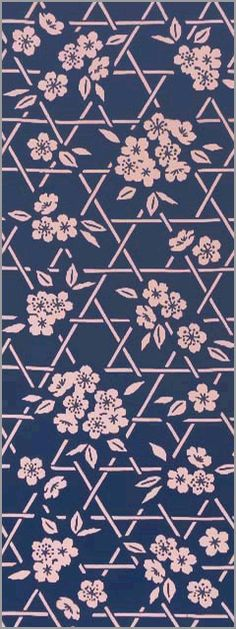 Kagome Sakura, woven bamboo cherry blossoms Textile Patterns, Textile Design, Textiles, Architectural Pattern, Bamboo Weaving, Pattern Illustration, Painting Patterns, Cherry Blossoms, Flower Designs