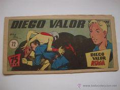 COMIC COMANDANTE ESPACIAL ESPACIO DIEGO VALOR Nº 72 DE LA COLECCION ORIGINAL DEL AÑO 1954. NO COPIA.