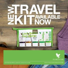 Forever Travel Kit Anywhere you go, you can take Forever! When you're traveling, you want to take your favorite personal care products. Snowdonia, Travel Kits, New Travel, Forever Bright Toothgel, Jojoba Shampoo, Forever Travel, Forever Business, Forever Living Products, Gelee