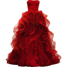 Satinee's collection - Dream gowns ❤ liked on Polyvore featuring dresses, gowns, vestidos, long dresses, red evening dresses, red gown, long red evening dress and red ball gown