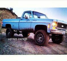 Chevrolet lifted truck - like Thomas' truck - four wheeling in NC great fun