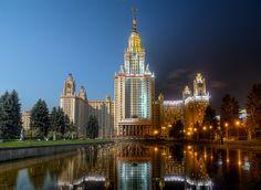 Day to night - Lomonosov Moscow State University (MSU) - blending of 2 photos, interesting.