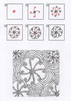 Zentangle+Patterns+Step+by+Step | zentangles step by step