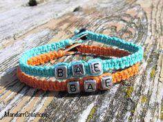 Bae Bracelets for Couples or Best Friends by MandarrCreations