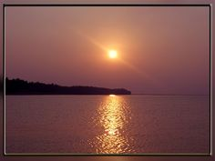 Sunset at Lake Chilika.