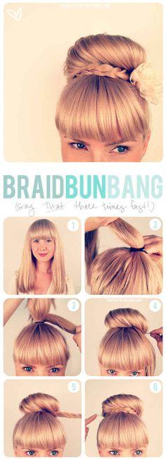 The Braid Bun Bang | 31 Gorgeous Wedding Hairstyles You Can Actually Do Yourself