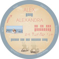 Invitatie de nunta la mare - Wedding invitation Theme Seaside - Circular, rotative