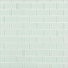 Glass Mosaic - Crystalized Glass Blend Series - Arctic Ice Subway Glass