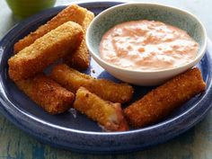 Frozen Fish Sticks : Thanks to whole-wheat breadcrumbs and a yogurt-based dipping sauce, these homemade fish sticks (made with tilapia) put a healthy spin on the freezer-aisle favorite.