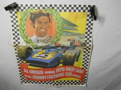 Johnny Lightning Al Unser 1970 Indy 500 Winner Poster Toy Die Cast - http://raise.bid/store/collectibles/johnny-lightning-winner/