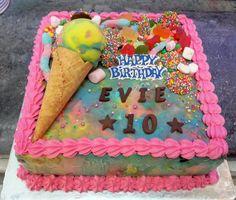 Cold Rock Birthday Ice Cream cake