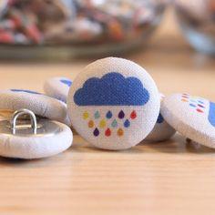 Fabric+Covered+Buttons++Rainbow+Cloud++1+Medium+Fabric