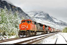 RailPictures.Net Photo: CN 8023 Canadian National Railway EMD SD70M-2 at Jasper National Park, Alberta, Canada by Tim Stevens