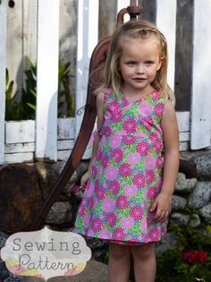 Kate Wrap Around Dress (Size 6-9 months to Size 6) Sewing E-Pattern and Tutorial