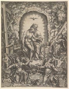 The Trinity Artist: Giorgio Ghisi (Italian, Mantua ca. 1520–1582 Mantua) Date: 1576 Medium: Engraving