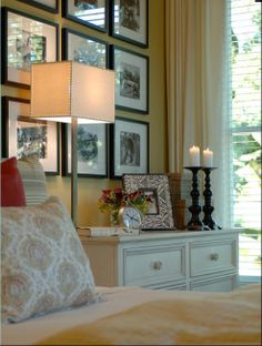 first i need the small dresser, then the candles, the lamp, the frame...