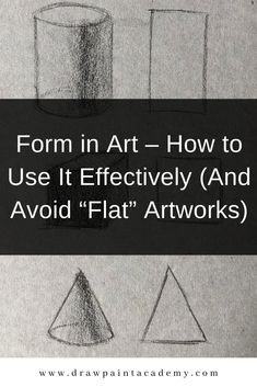 Form is a visual element that refers to the illusion of a three-dimensional object on a two-dimensional surface. Oil Painting For Beginners, Oil Painting Techniques, Painting Tips, Painting Art, Drawing Skills, Drawing Tips, Gesture Drawing, Watercolor Paintings Abstract, Watercolor Flowers