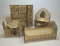 Monster High Barbie Bratz Doll wood furniture set by WeMakeIt4You