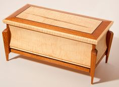 Wood Keepsake Box / Jewelry Box by WoodcraftByBenjamin on Etsy, $125.00