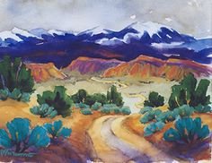 Pam Furumo - South West Art Print - Road to Spanish Valley - Utah